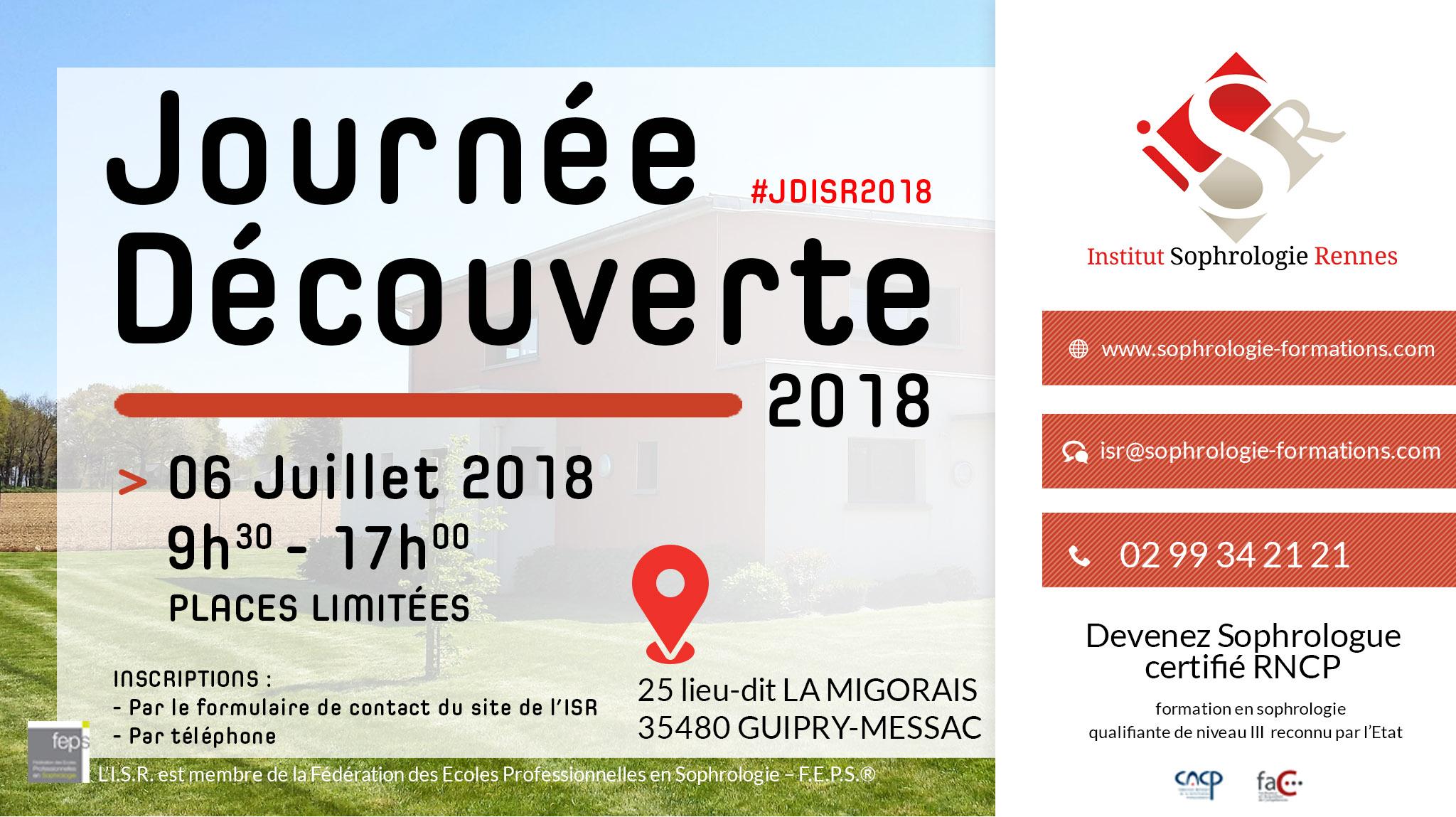 Journée découverte ISR 2018 - #JDISR2018