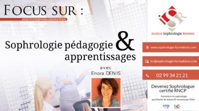 Focus sur Sophrologie et pédagogie & apprentissages - ISR