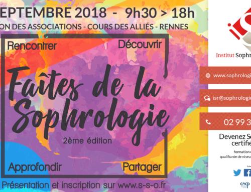 «Faîtes» de la Sophrologie 2018