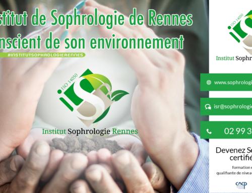 L'institut de Sophrologie de Rennes conscient de son environnement