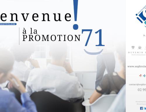 Bienvenue à la Promotion 71