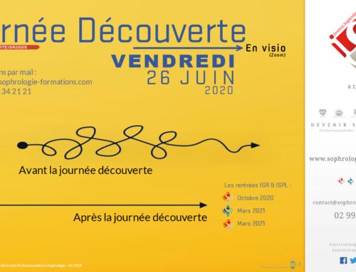 Journée découverte ISR le 26 Juin 2020 en Visio