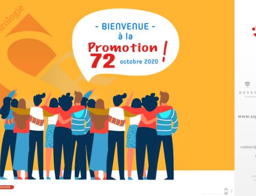 Bienvenue à la Promotion 72