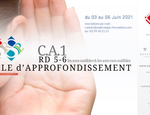 CA1 – Cycle d'Approfondissement (RD5 à RD6) du 03 au 06 juin 2021