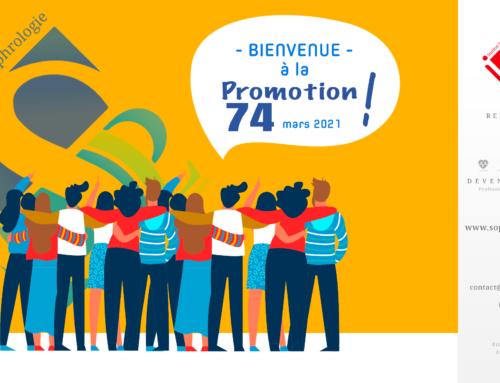 Bienvenue à la Promotion 74