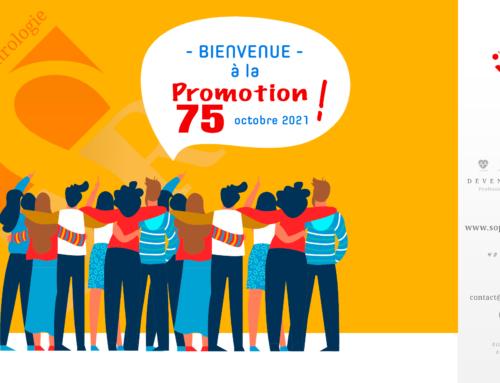 Bienvenue à la Promotion 75